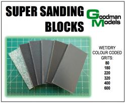 Wet Dry Super Sanding Blocks by Goodman Models SSB-01