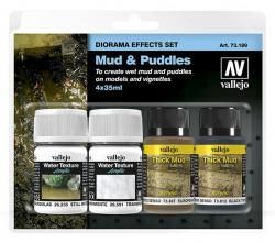 Vallejo Mud and Puddles Diorama Effects Set 73189