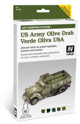 US Army Olive Drab Paint Set by Vallejo 78402