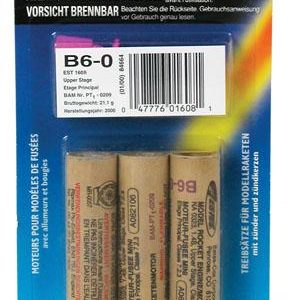 B6-0 Model Rocket Engines Pack of 3 Estes 1608