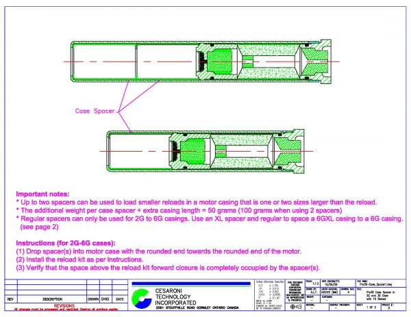 Pro38 Spacer Dimensions Page 1
