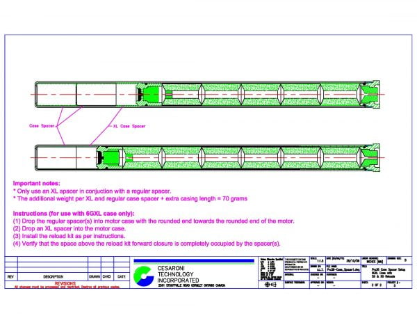Pro38 Spacer Dimensions Page 2