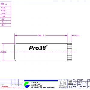 Pro 38 Hardware Dimensions