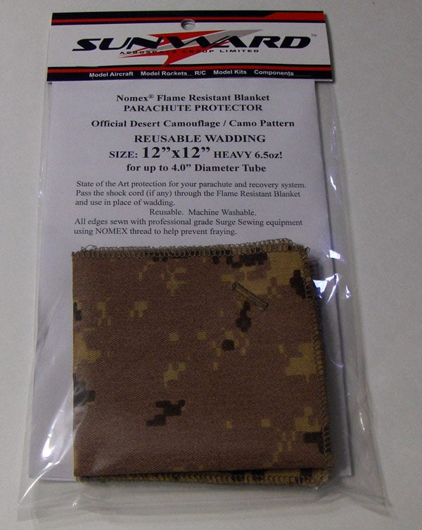 NOMEX Camouflage - Camo Flame Resistant Wadding Chute Protectors for Rockets