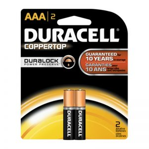 Duracell Coppertop AAA Batteries 2 Pack