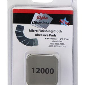 Micro Finishing Cloth Abrasive Pads 2 inches by 2 inches from Alpha Abrasives