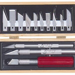 Wooden Box Hobby Knife Set 44382 Excel Hobby Blades Corp