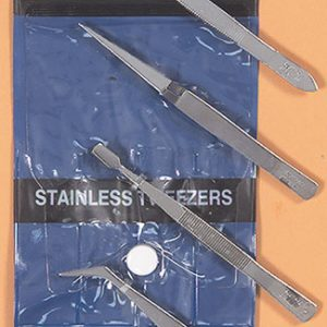 4 Piece Stainless Steel Tweezers Set 30416 Excel Hobby Blades Corp