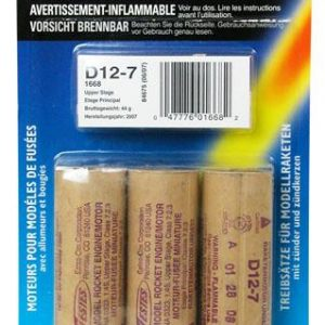 D12-7 Model Rocket Engines Estes 2 Pack 1568
