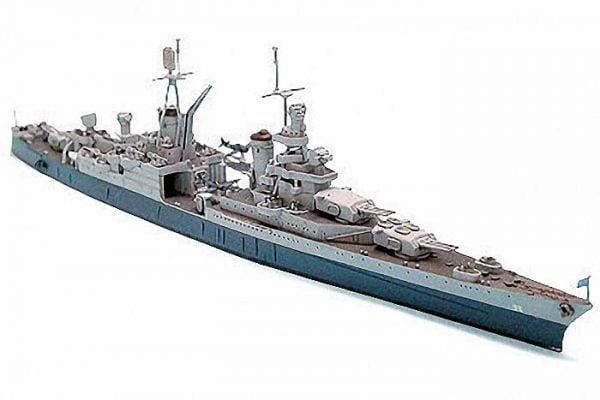 US Navy CA 35 Indianapolis Cruiser Waterline Tamiya 31804