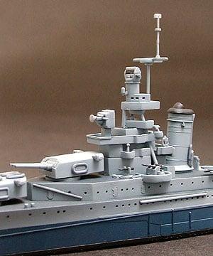 US Navy CA 35 Indianapolis Cruiser Waterline Tamiya 31804 b