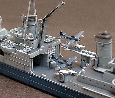 US Navy CA 35 Indianapolis Cruiser Waterline Tamiya 31804 c
