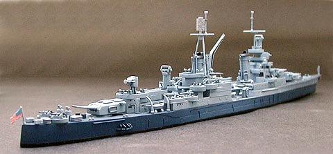 US Navy CA 35 Indianapolis Cruiser Waterline Tamiya 31804 d