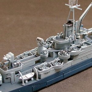 US Navy CA 35 Indianapolis Cruiser Waterline Tamiya 31804 e