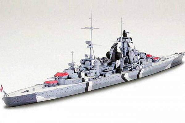 German Prinz Eugen Heavy Cruiser Waterline 700 Scale Tamiya 31805