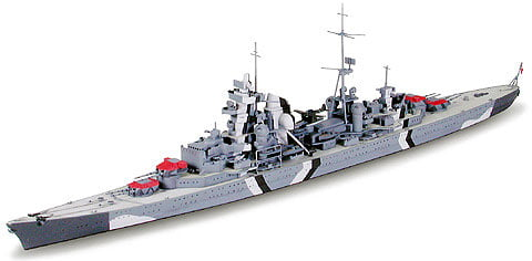 German Prinz Eugen Heavy Cruiser Waterline 700 Scale Tamiya 31805 a