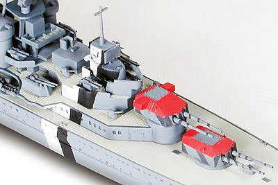 German Prinz Eugen Heavy Cruiser Waterline 700 Scale Tamiya 31805 b
