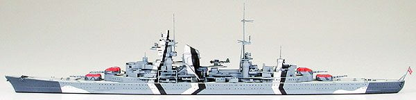 German Prinz Eugen Heavy Cruiser Waterline 700 Scale Tamiya 31805 d