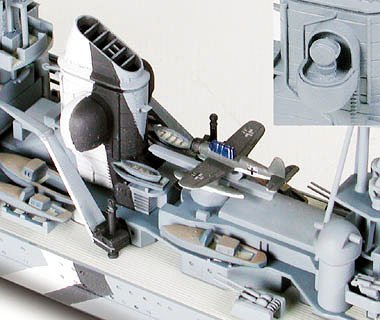 German Prinz Eugen Heavy Cruiser Waterline 700 Scale Tamiya 31805 e