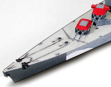 German Prinz Eugen Heavy Cruiser Waterline 700 Scale Tamiya 31805 f