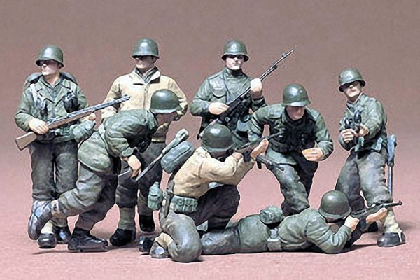 US Infantry European Theatre Kit Set of 8 35 Scale Tamiya 35048