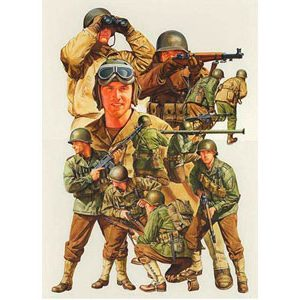 WWII US Army Infantry GI Set of 15 48 Scale Tamiya 32513
