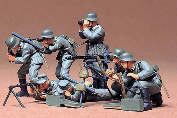 German Machine Gun Troops Kit Set of 7 CA138 35 Scale Tamiya 35038