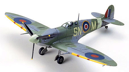 Supermarine Spitfire Aircraft Mk.Vb Mk.Vb TROP Tropical Kit 72 Scale Tamiya 6075