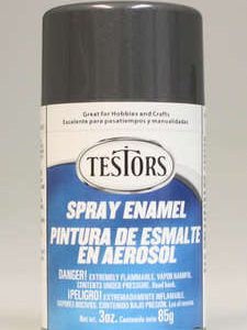 Testors Enamel Spray Paint 1253 Graphite Grey Gray Metallic