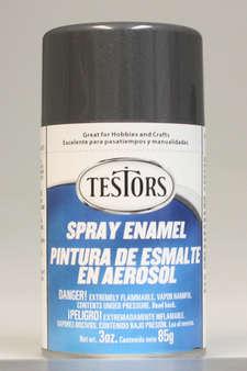 Testors Enamel Spray Paint 1253 Graphite Grey Gray Metallic