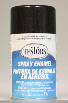 Testors Enamel Spray Paint 1254 Black Metallic