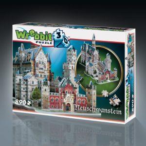 Neuschwanstein Castle 3D Puzzle from Wrebbit 890 Pieces
