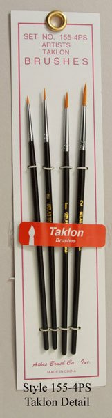 Atlas 4 Piece Detail Taklon Brush Set detail