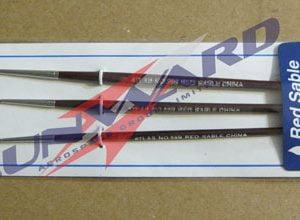 Atlas 3 Piece Red Sable Brush Set 10-0 5-0 0