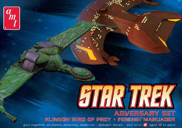 Star Trek Adversary Set Klingon Bird of Prey & Ferengi Marauder 537 scale by AMT