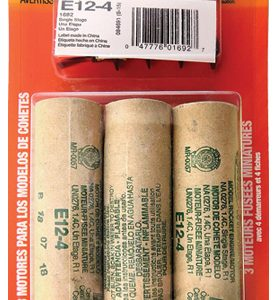 E12-4 Model Rocket Engines 3 Pack Estes 1692