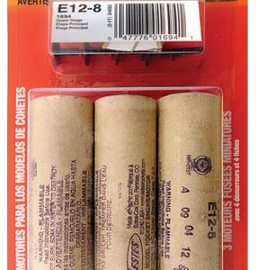 E12-8 Model Rocket Engines 3 Pack Estes 1694