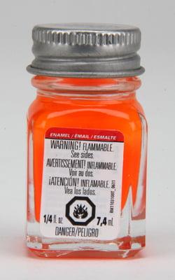 Testors Enamel Paint 1173 Orange Fluorescent
