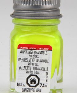 Testors Enamel Paint 1177 Yellow Fluorescent