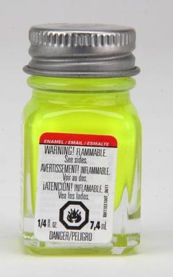 Testors Enamel Paint 1177 Yellow Fluorescent