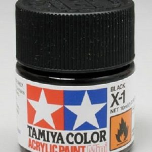 Tamiya Acrylic Paints X1 X-1 81501 Black