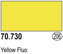 Vallejo Model Color Colour 70-730 Yellow Fluo Fluorescent 206