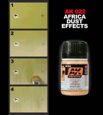 Africa Dust Effects by AK Interactive AKI-022 Technique