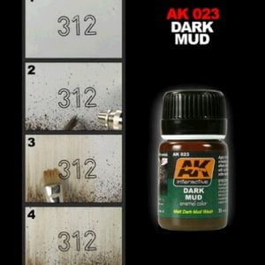 Dark Mud by AK Interactive AKI-023 Technique