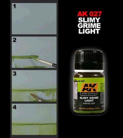Slimy Grime Light by AK Interactive AKI-027 Technique