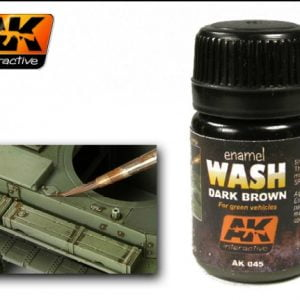 Dark Brown Enamel Wash by AK Interactive AKI-045