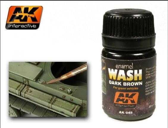 Dark Brown Enamel Wash by AK Interactive AKI-045