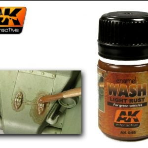 Light Rust Enamel Wash by AK Interactive AKI-046