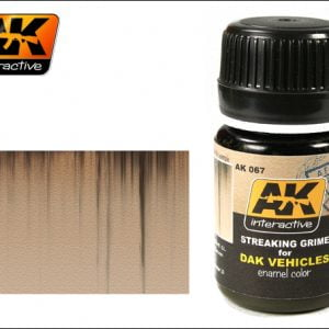 Streaking Grime for Dak Vehicles Enamel Color Colour by AK Interactive AKI-067