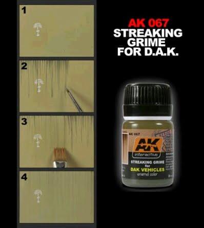 Streaking Grime for Dak Vehicles Enamel AK Interactive AKI-067 Technique